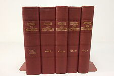 1943 Missouri & Missourians by Shoemaker Hardcover State History Books Vol 1-5