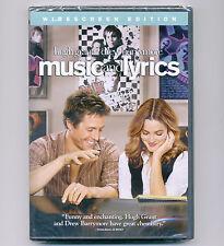 Music & Lyrics 2007 PG-13 romantic comedy movie, new DVD Hugh Grant, D Barrymore