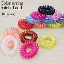 10pieces x Color Spring Hair Tie Band (Cosplay Korea)