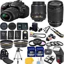 Nikon D5300 DSLR Camera Bundle with 18-55mm VR + Nikon 70-300mm G + 64GB Memory