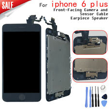 For Black iPhone 6 Plus LCD Replacement Screen Digitizer with homebutton camera
