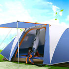 8~10 Person Family Camping Dome Tent Canvas Swag Hiking Beach 2 Rooms Pop*