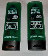 2X ORIGINAL SOURCE SHOWER GEL TINGLY MINT & TEA TREE 250ML