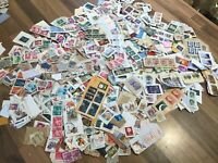 World / Foreign stamps on clipped down paper. Kiloware. FREE UK POSTAGE #E2