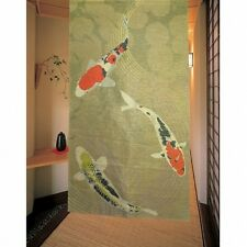 Japanese NOREN Curtain NISHIKI KOI Colored carp