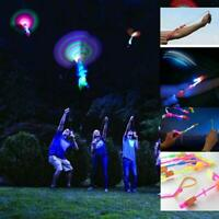 12pc Amazing Led Light Arrow Rocket Helicopter Flying Toy Party Fun Gift Elastic