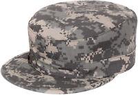 ACU Digital Camo Fatigue Cap Ripstop Milspec Patrol Ranger BDU Hat Map Pocket