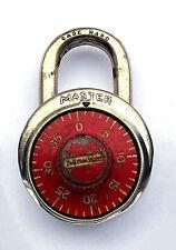Ancien Cadenas à Code MASTER Lock Co. USA. Rouge