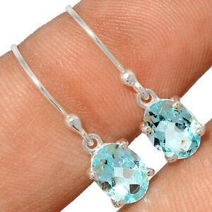 Blue Topaz 925 Sterling Silver Earring Jewelry BE60405