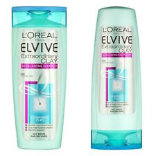 ** L'OREAL ELVIVE EXTRAORDINARY CLAY SHAMPOO & CONDITIONER 400ML NEW **
