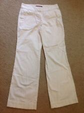 Women's Vineyard Vines White Chino Beach Pants Sz 6 100% Cotton Flare Wide Leg