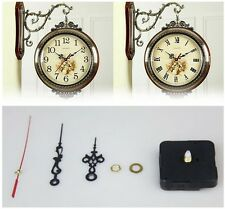 Wall Quartz Clock Movement Motor With Hour Minute Second Hands Motor Black CA