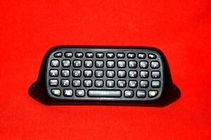 Official Microsoft Xbox 360 Chatpad Keyboard Text Keypad Controller Black