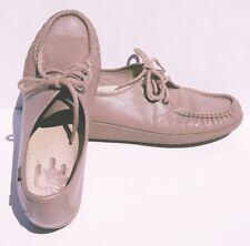 SAS Womens Size 9 S Siesta Mocha Tan Oxford Mocs Lace Up Shoes Tripad Loafer