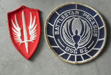 Lot of 2 Vintage Battlestar Galactica Pegasus Bsg 62 and Red Patches