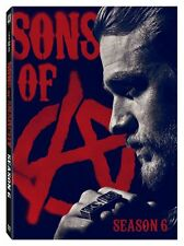 Sons of Anarchy sixth Season 6 (DVD, 2014, 5-Disc Set) New Free Shipping