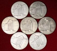 Lot of 7 Estonia 1932 silver 2 krooni Tartu University