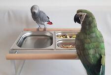 Vasca da bagno Pappagalli/Uccelli ciotola in acciaio inox libero in piedi papageienbad * NUOVO *