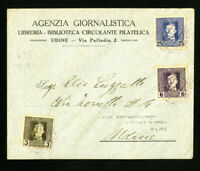 Austria in Italy Stamped 1918 Cover with 3x Values