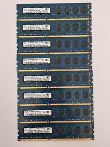 Lot of 8 SK Hynix 4GB 2Rx8 PC3-12800U-11-12 DDR3 Desktop RAM. 32GB total Tested
