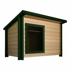 Ecoflex Outdoor Dog House Rustic Lodge Style Up To 200 Lb-Ecoh203Jmb-Gn