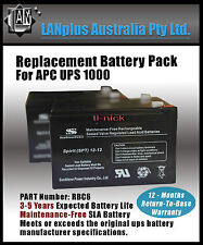 NEW Replacement Battery Pack for APC UPS 1000 RBC6 Tax invoiced 12-month warrty