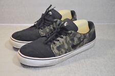 Nike SB Satire Skate Shoes Snickers Mens Sz 12.5 Camo Black Skateboarding