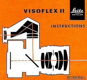 1960 LEICA VISOFLEX II REFLEX HOUSING INSTRUCTION MANUAL -from 1960