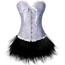 US Sexy Burlesque Lace Corset and Basque+Tutu/Skirt Dress Costume Outfit Shaper