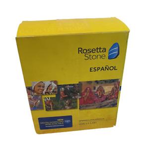 Rosetta Stone SPANISH (Latin America) Level 1-5 Set. OPEN BOX  w/Headphones!!!