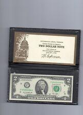 USA 2003 NORTH CAROLINA $2 UNC Federal Reserve Note in FOLDER J 024267624 A