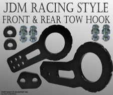 "JDM 2"" Anodized Billet CNC Aluminum Racing F. & Rear Tow Towing Hook Black N318"