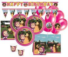 61 Teile Mascha und der Bär Party Deko Basis Set - für 6-8 Kinder