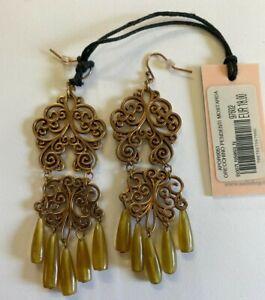 Nali Bronze Dangle Drop Earrings - Brand New