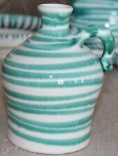 Gmundner Keramik Schnapsflasche, grün geflammt, gebraucht