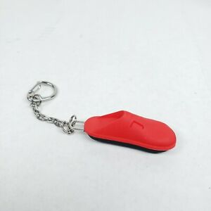"""Alegria Shoes Keychain Rubber Metal Chain/Hook 5"""" Red"""