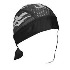 0c56692ad573 Reflective Silver Black Flame Vented Sport Side Stretch Sweatband Durag  Headwrap
