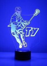 Lacrosse Player LED Light Personalized Name - Number - Team 16 Color Night Light