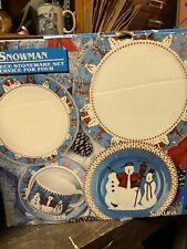 Debbie Mumm Snowman 20 Piece Dinner Ware Boxed Set by Sakura.