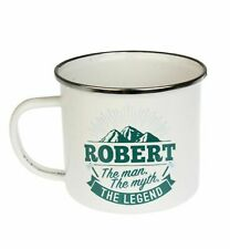 Robert Camping Enamel Tin Metal Mugs Cups Outdoor Gardening Picnic New