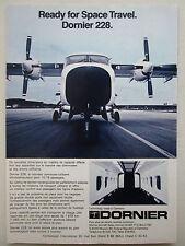 9/1982 PUB DORNIER 228 AVION FLUGZEUG AIRCRAFT FARNBOROUGH ORIGINAL FRENCH AD