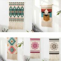 Macrame Boho Wall Hanging Hemp Rope Hand-woven Tassel Tapestry Living Room Decor