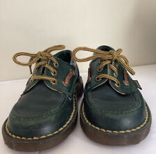 Vintage Dr. Martens Boys Toddler Sz. 7 Green Leather Made In England Air Wair