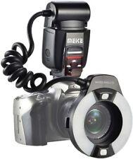 Meike MK-14EXT Flash anulare per DSLR Canon eos macro E-TTL  AF 7 + adattatori