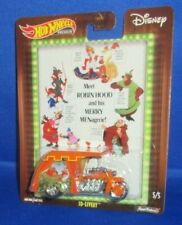 WALT DISNEY'S CLASSIC HOT WHEELS ROBIN HOOD #5 OF 5 COLLECTOR 3D-LIVERY (CAR)