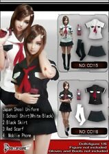 "DOLLSFIGURE 1:6th 12"" Female Action Figure Accessory White Summer school uniform"