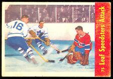 1955 56 PARKHURST LEAFS SPEEDSTERS #75 JACQUES PLANTE EX-NM MONTREAL CANADIENS