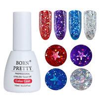 BORN PRETTY 10ml Holographisch Star Moon Sequins Gellack Nails Soak Off UV Gel