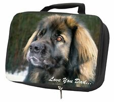 More details for leonberger dog 'love you dad' black insulated school lunch box bag, dad-68lbb