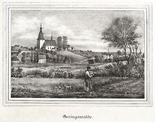 Bassa Bosco-vista parziale con chiesa-CHIESE-Galleria-LITOGRAFICO 1843